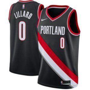 Portland Trail Blazers Damian Lillard Black Jersey